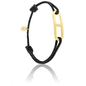 Bracelet gaby GM noir & vermeil jaune