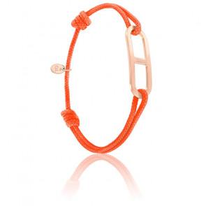 Bracelet gaby GM orange & vermeil rose