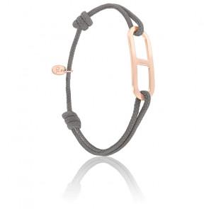 Bracelet gaby GM anthracite & vermeil rose