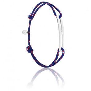 Bracelet gaby slim XL navy & argent