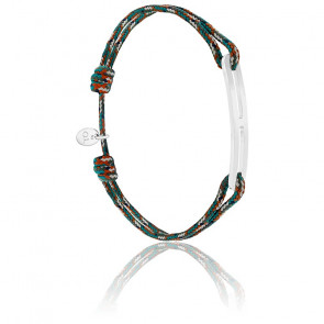Bracelet gaby slim XL armée & argent