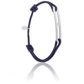 Bracelet gaby slim XL encre & argent