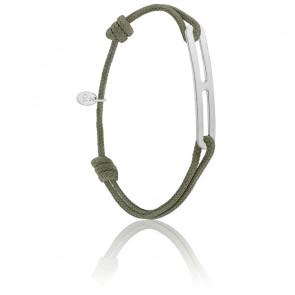 Bracelet gaby slim XL kaki & argent