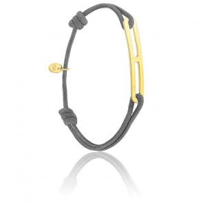 Bracelet gaby slim XL anthracite & vermeil jaune