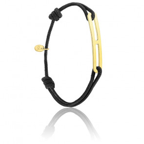 Bracelet gaby slim XL noir & vermeil jaune