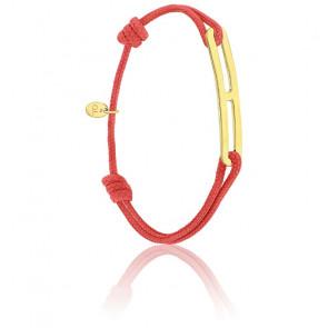 Bracelet gaby slim XL rouge & vermeil jaune
