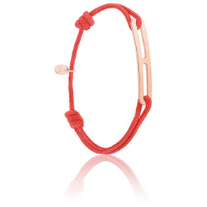 Bracelet gaby slim XL rouge & vermeil rose