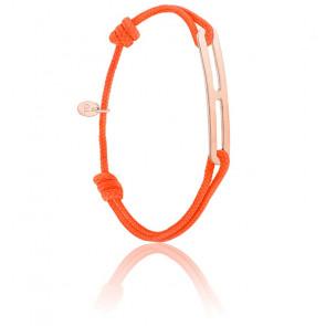 Bracelet gaby slim XL orange & vermeil rose