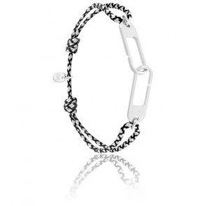 Bracelet osmose XL chrome & argent