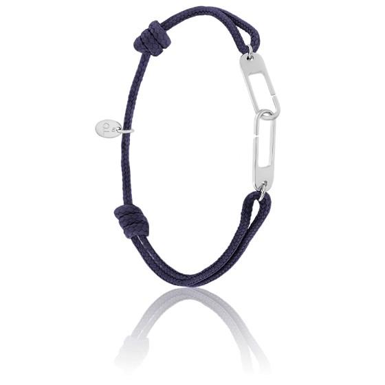 Bracelet osmose XL encre & argent