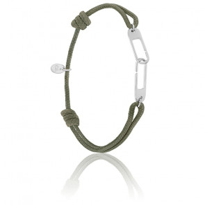 Bracelet osmose XL kaki & argent