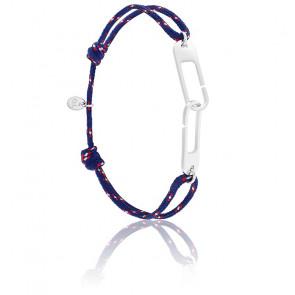 Bracelet osmose XL navy & argent