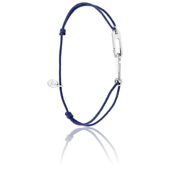Bracelet osmose cordon bleu marine & argent
