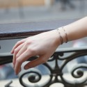 Bracelet osmose cordon taupe & argent