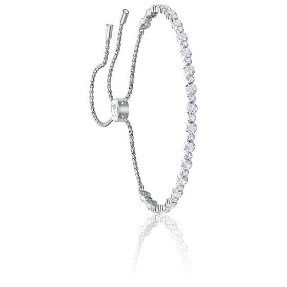 Bracelet Subtle Blanc & Métal Rhodié