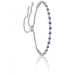 Bracelet Subtle Bleu & Métal Rhodié