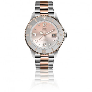 Montre ICE Steel Silver Sunset Rose-Gold Medium 016769M