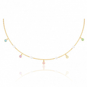 Collier No Regrets Multicolore & Métal Doré