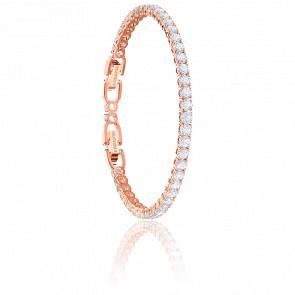 Bracelet Tennis Blanc & Plaqué Or Rose