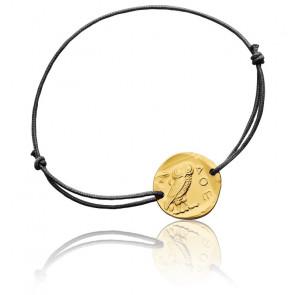 Bracelet Cordon Chouette d'Athènes Or Jaune 18K