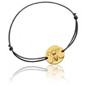 Bracelet Cordon Abeille d'Ephèse Or Jaune 18K