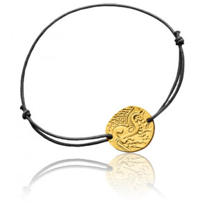 Bracelet Cordon Cheval Gaulois Or Jaune 18K