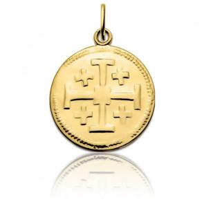 Médaille Croix De Jérusalem Or Jaune 18K