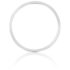 Pendentif Simply Circle Or Blanc Ø17 mm