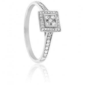 Bague Satpura Or Blanc et Diamants
