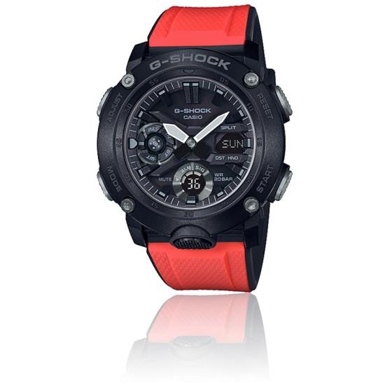Montre G-Shock Series-Carbon Core Guard Rouge GA-2000E-4ER
