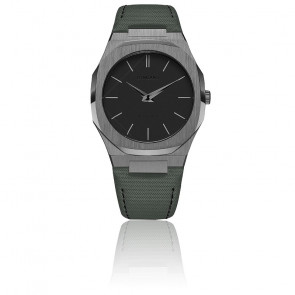 Montre Ultra Thin Nylon military green UTNJ05