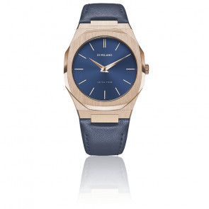 Montre Ultra Thin Leather blue UTLJ04