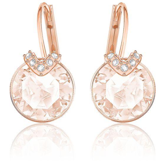Boucles d'oreilles Bella V rose métal doré rose - Swarovski - Ocarat