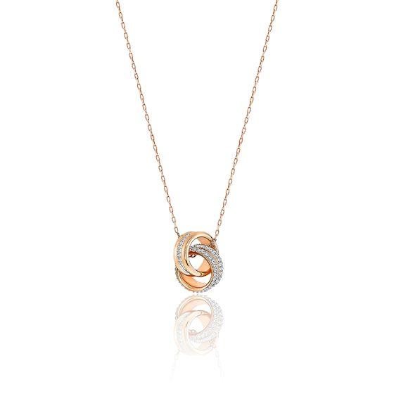 Hestia Petite bo/îte /à bijoux rose dor/é
