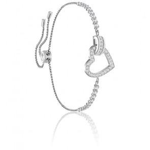 Bracelet Lovely Blanc & Métal Rhodié