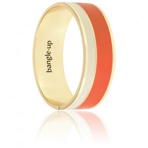 Bracelet Vaporetto Tangerine, Blanc Sable & Plaqué Or Jaune