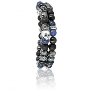 Bracelet Abysse Blue Wrap Argent