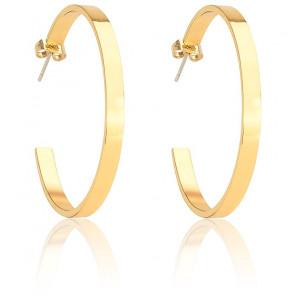 Boucles d'oreilles créoles Bangle or light & plaqué or jaune