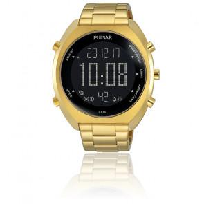 Montre sport chrono digital doré P5A016X1