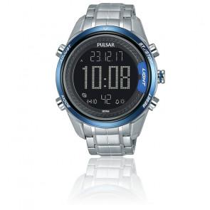 Montre accelerator chrono digital bleu P5A003X1