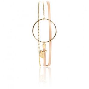 Bracelet Nolah Saumon Vernis