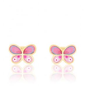 22b89e7e85756 Bambins Boucles d oreilles papillon rose or jaune