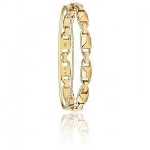 Bracelet Rigide Mercer Link Plaqué Or Jaune 14K