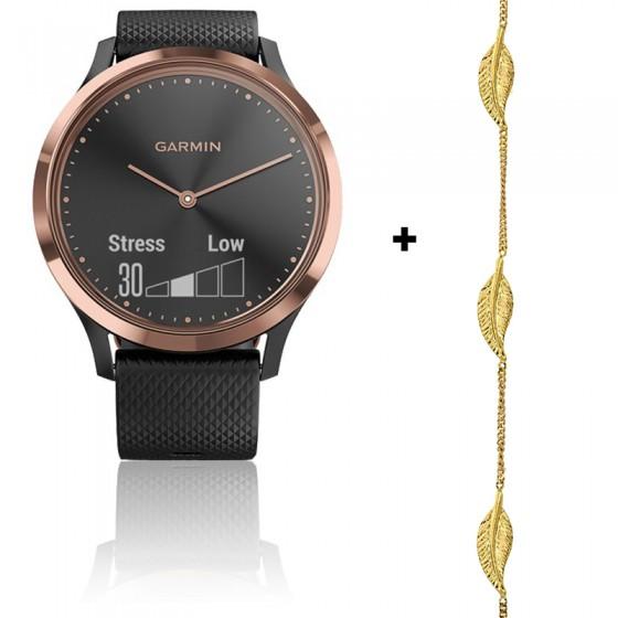 Offre : Vivomove HR Sport 010-01850-06 + Bracelet Plume Or Jaune 9K