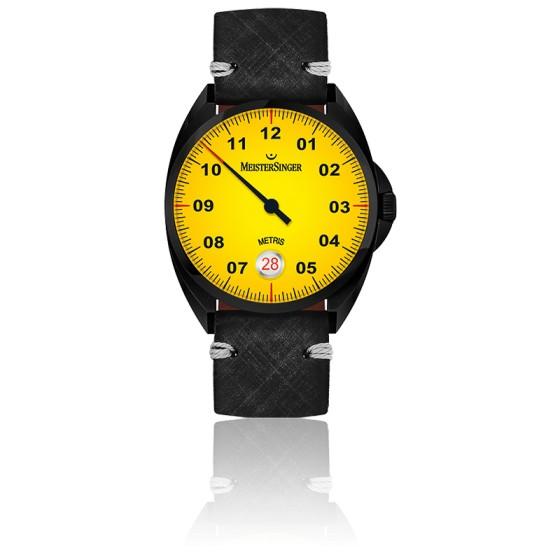 Montre Metris Black Line Yellow Dial ME905BL