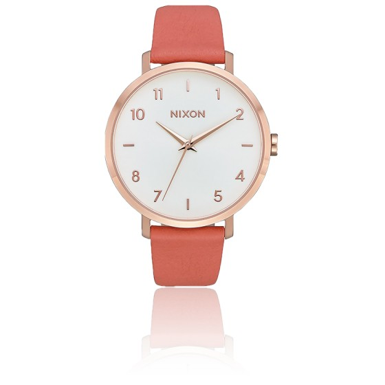 Montre Arrow Leather Rose Gold/Salmon A1091-3028