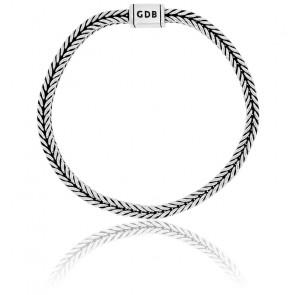 Bracelet Maille Serpent Carrée Argent