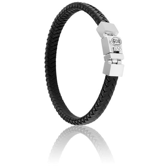 Bracelet Cuir Tressé & Argent