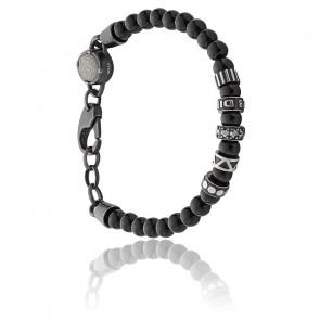 Bracelet etnik perles noires, DX0961001