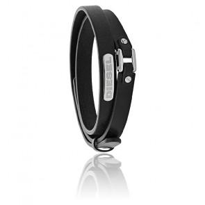 Bracelet stacked cuir noir, DX0971040